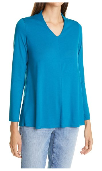 Eileen Fisher v-neck top in jewel