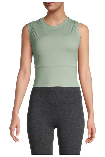 ELECTRIC YOGA Cropped Workout Top in mint