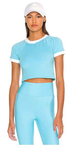 Eleven by Venus Williams ringer workout tee in ice sky