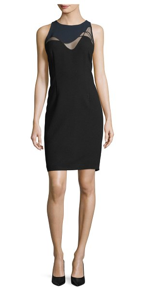 "ELIE TAHARI Colby Mesh-Inset Sheath Dress - Elie Tahari ""Colby"" dress with mesh-insets. Crew..."