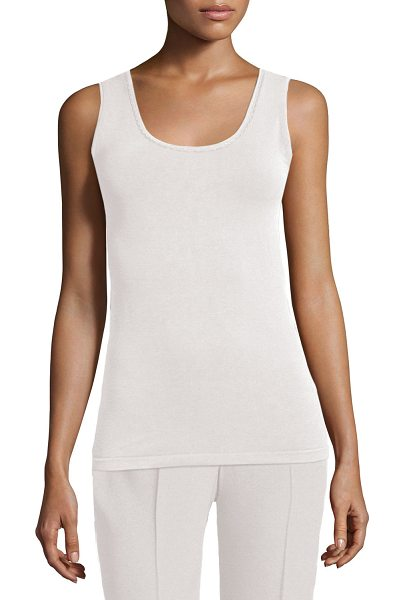 Elie Tahari Neely Knit Tank in white