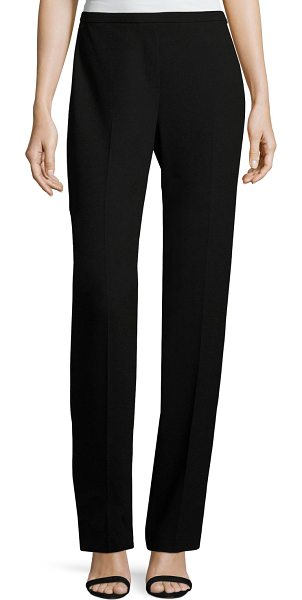 212756f76db56 Elie Tahari Stella Straight-Leg Stretch-Knit Pants in black -