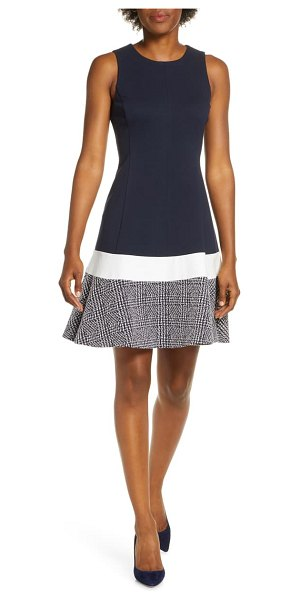 Eliza J sleeveless fit & flare dress in navy