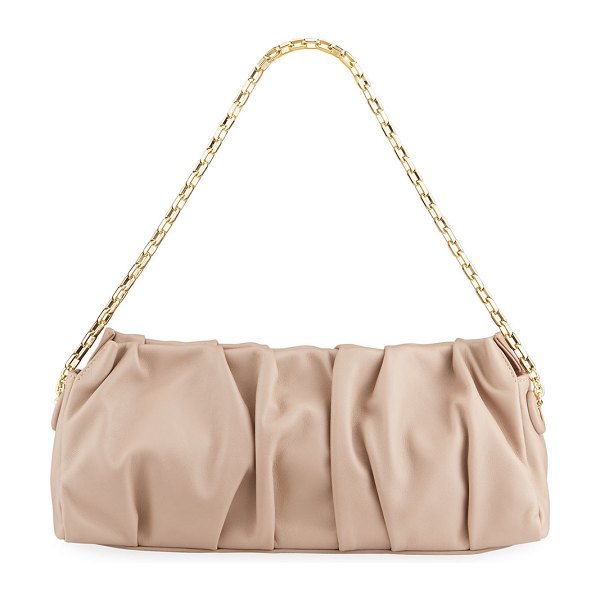 Elleme Long Vague Pleated Chain Shoulder Bag in taupe