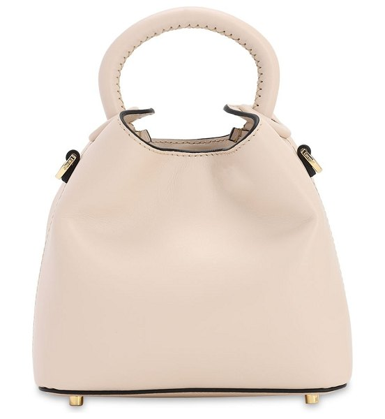 Elleme Madeleine smooth leather bag in beige
