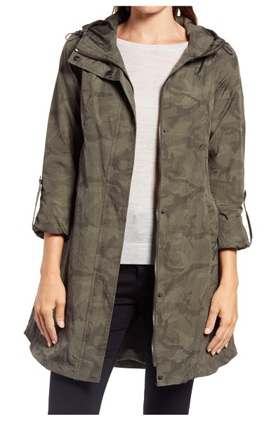 Ellen Tracy camo raincoat in olive camo
