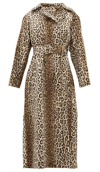 EMILIA WICKSTEAD jill double breasted leopard print coat in leopard