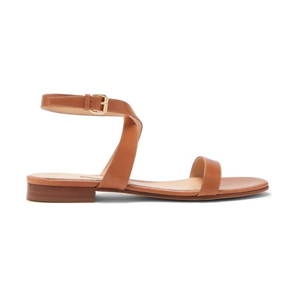 EMME PARSONS siena ankle-strap leather sandals in tan