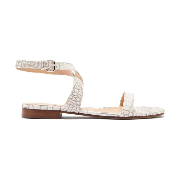 EMME PARSONS siena crocodile-effect leather sandals in white