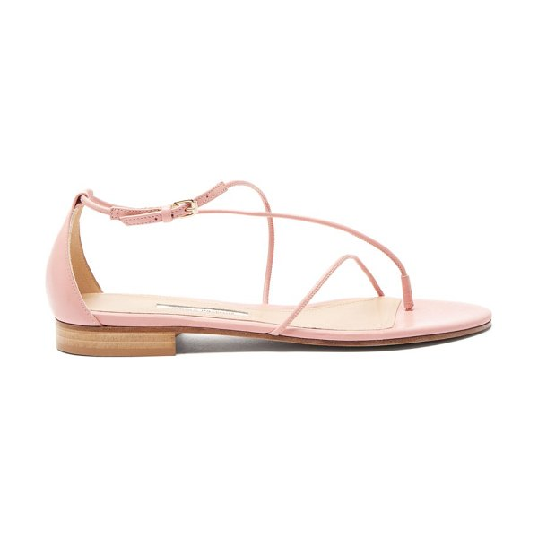 EMME PARSONS string leather sandals in pink
