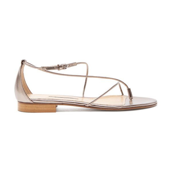 EMME PARSONS string metallic-leather sandals in gold