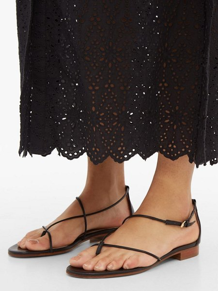 EMME PARSONS string thin-strap leather sandals in black