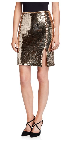 Emporio Armani Sequin Side Slit Skirt in oro
