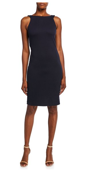 Emporio Armani Zen Dotted Jersey Sleeveless Dress in blue
