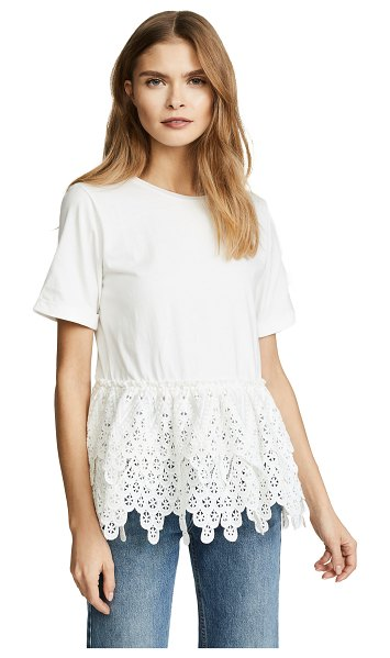 endless rose lace tee in white