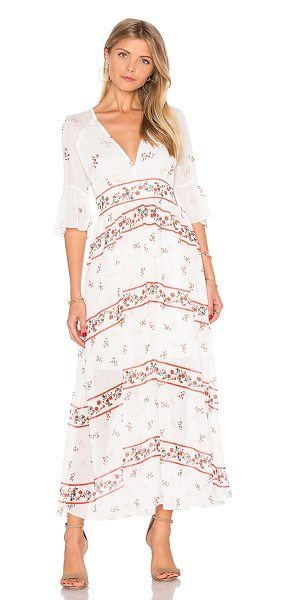 ENDLESS ROSE V Neck Floral Maxi Dress - Self & Lining: 100% poly. Hand wash cold. Partially lined....