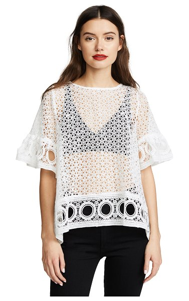 ENGLISH FACTORY lace blouse in off white