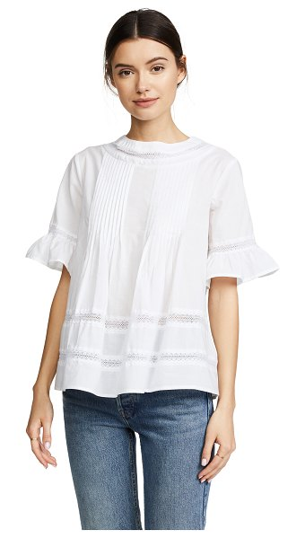 ENGLISH FACTORY lace boho blouse in off white