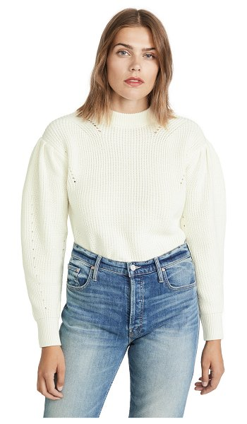 ENGLISH FACTORY puff sleeve sweater in ivory