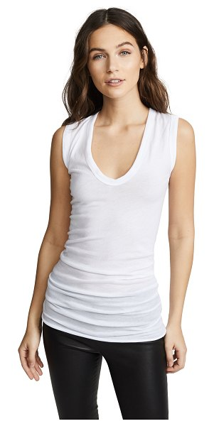 Enza Costa bold u tank in white