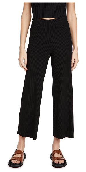 Enza Costa pull on cropped pants in black