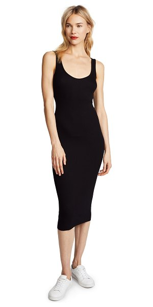 Enza Costa ribbed tank dress in black