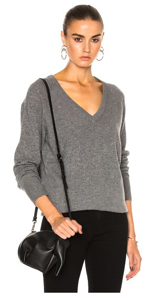 Equipment asher cashmere v neck in heather gray