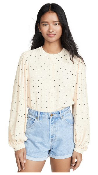 Equipment cleone blouse in sand dollar true black