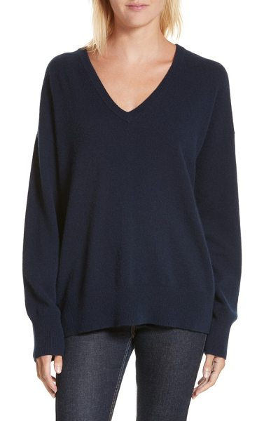 Equipment lucinda v-neck cashmere pullover in eclipse - Soft and sumptuous cashmere and a plunging V-neck...
