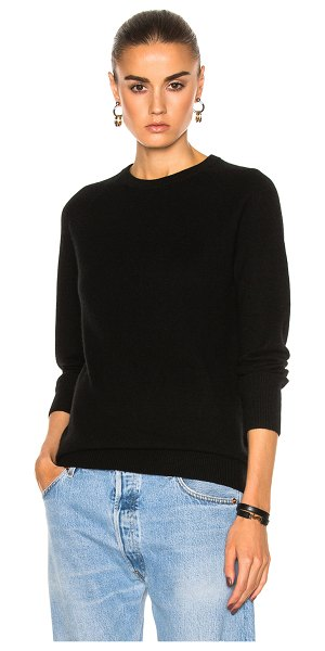 EQUIPMENT Sloane Crew Neck in black - 100% cashmere.  Made in China.  Dry clean only.  Knit fabric.