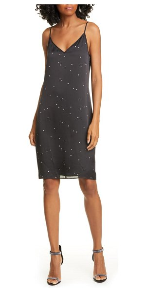 Equipment tansie star pattern slipdress in true black bright white