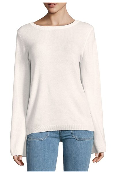 EQUIPMENT V-Back Cashmere Sweater - Cashmere sweater ideal for casual wardrobe. Boatneck. Long...