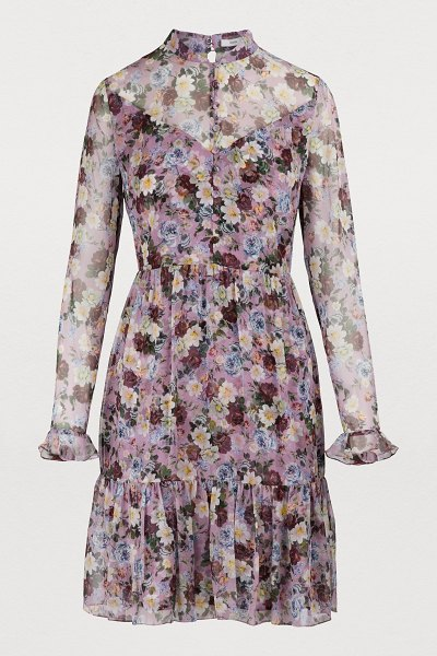 Erdem Danielle dress in pink multi - Erdem wins us over with imaginative pieces like this...