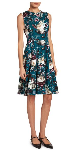 Erdem Dylanne Floral Crewneck Dress in multi pattern