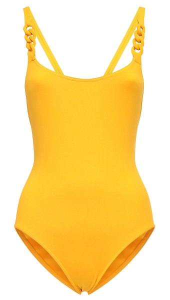 ERES Chainette one piece swimsuit in yellow