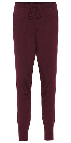 ERNEST LEOTY bertille wool trackpants in red