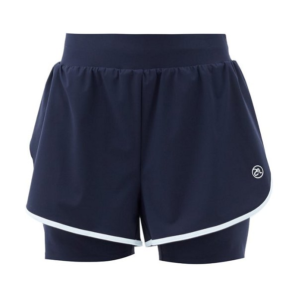 ERNEST LEOTY fleur shell and jersey shorts in navy white
