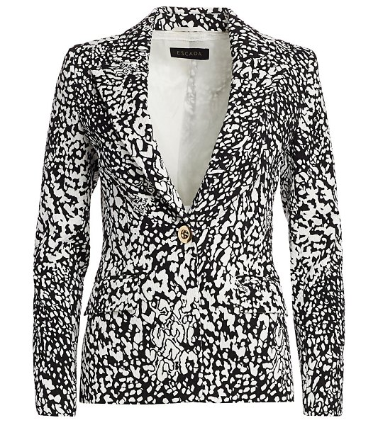 Escada bikenati abstract leopard print jacket in black leopard