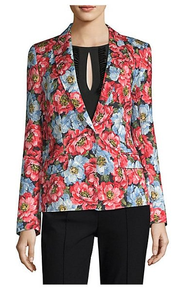 Escada floral blazer in oxford