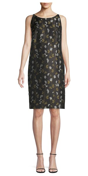 Escada Floral Shift Dress in black