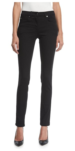 Escada J223 Stretch-Denim Skinny Jeans in black