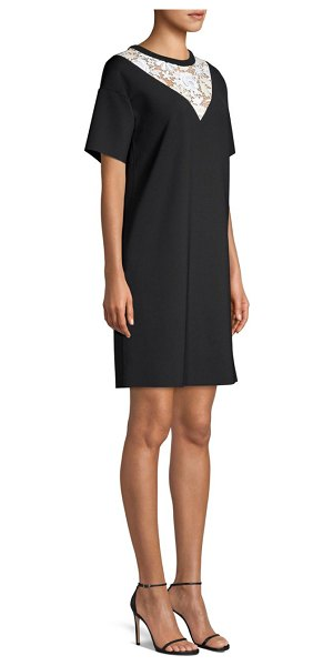 Escada Lace Insert T-Shirt Dress in black