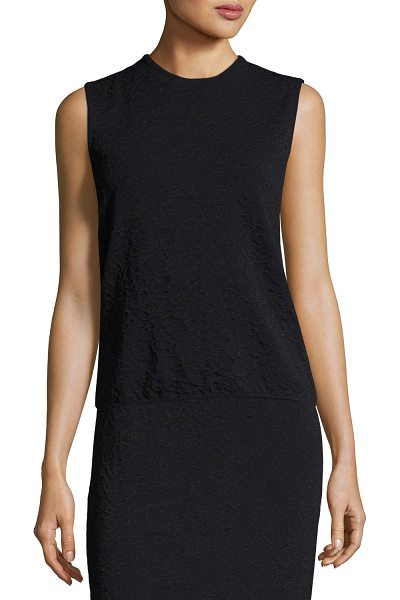 ESCADA Leopard Jacquard Shell Top - Escada knit shell tank in leopard jacquard. Crew...