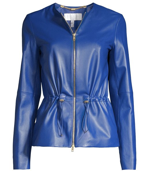 Escada Sport lumia drawcord leather jacket in medium - Supple leather jacket with minimal styling can be...