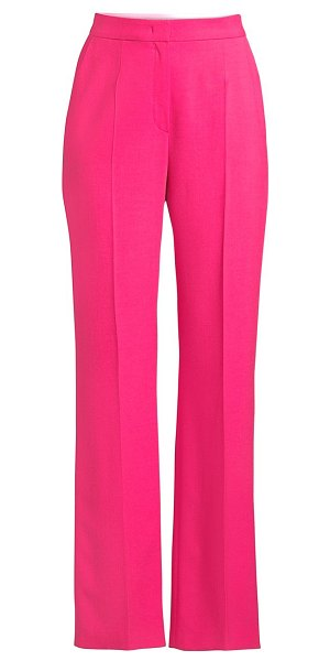 Escada Sport tamuki double-face wool-blend pants in shocking pink