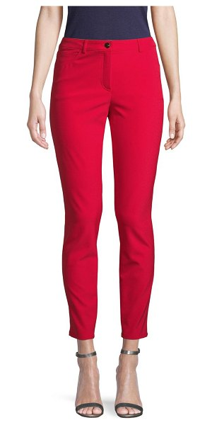 Escada Stretch Pants in bright red