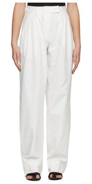 Esse Studios off-white tailored trousers in ivory