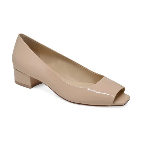 ETIENNE AIGNER evelyn open toe pump in natural
