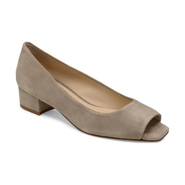 ETIENNE AIGNER evelyn open toe pump in taupe