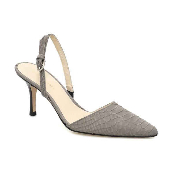 ETIENNE AIGNER lillia pump in cement snake print leather